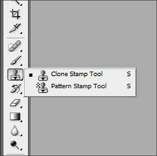 The Clone tool in Photoshop