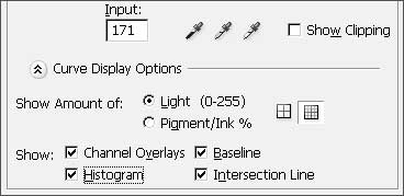 Options at the bottom of the CS3 Curves dialog