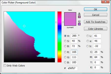 Gamut warnings in the color picker enabled via Shift-Control-Y