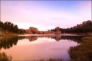 Dawn at Sylvan Lake in Custer State Park, South Dakota