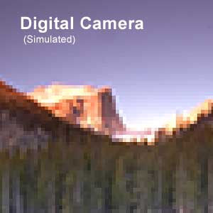 Simulated digital camera version