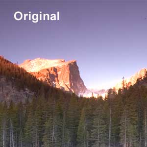 Portion of original image from Rocky Mountain National Park