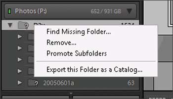 Finding a missing folder after a move Lightroom didn't know about