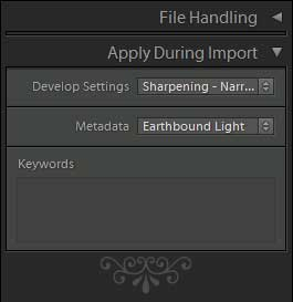Lightroom Import Sharpening