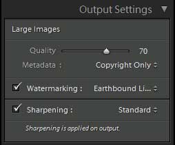 Lightroom Web Sharpening