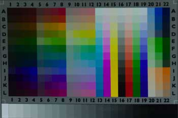 What the Monaco Color calibration target actually looks like