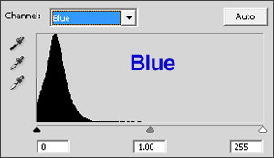 The blue histogram seems underexposed too.
