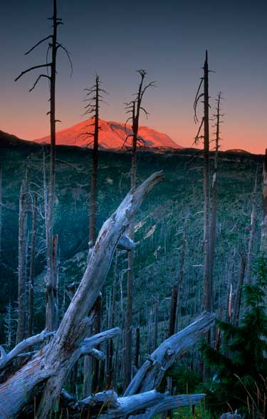 Mt. Saint Helens at sunrise. Guess where the transition line of the graduated neutral density filter was.