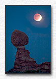 Lunar Eclipse Over Balanced Rock