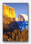 El Capitan and Half Dome Sunset